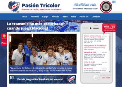 Sitio web del programa radial Pasión Tricolor