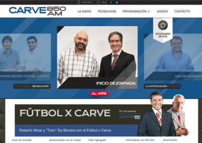 Sitio web de la emisora de radio Carve 850 AM