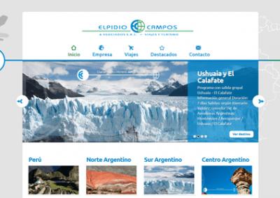 Sitio web de la agencia de viajes y turismo ElpidioCampos & Asociados