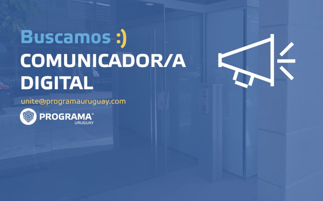 Buscamos comunicador/a digital